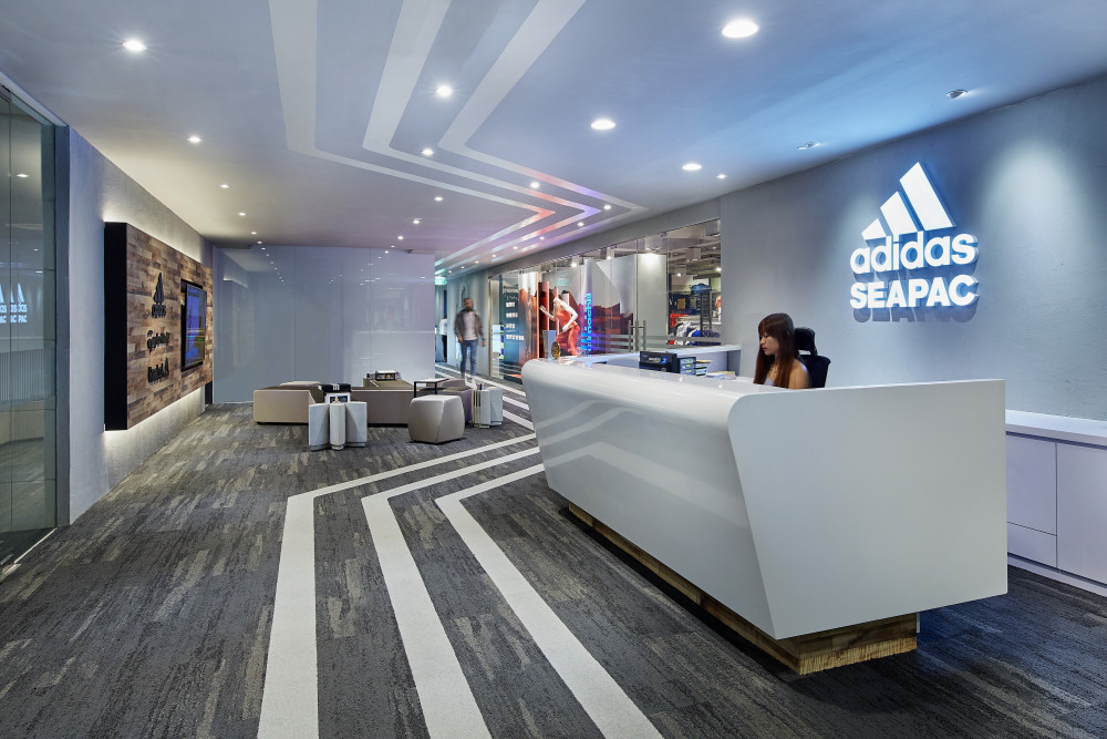 Singapore Adidas Seapac Office Reception Interior Photography Side